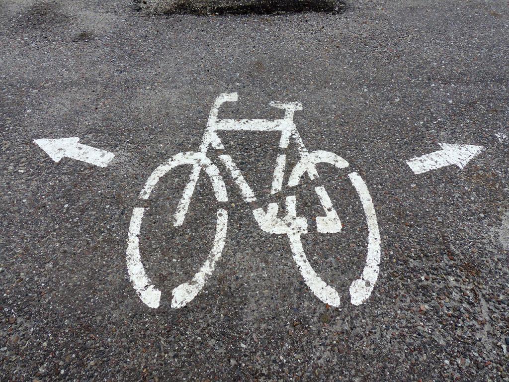 Hinweis auf Fahrradwege